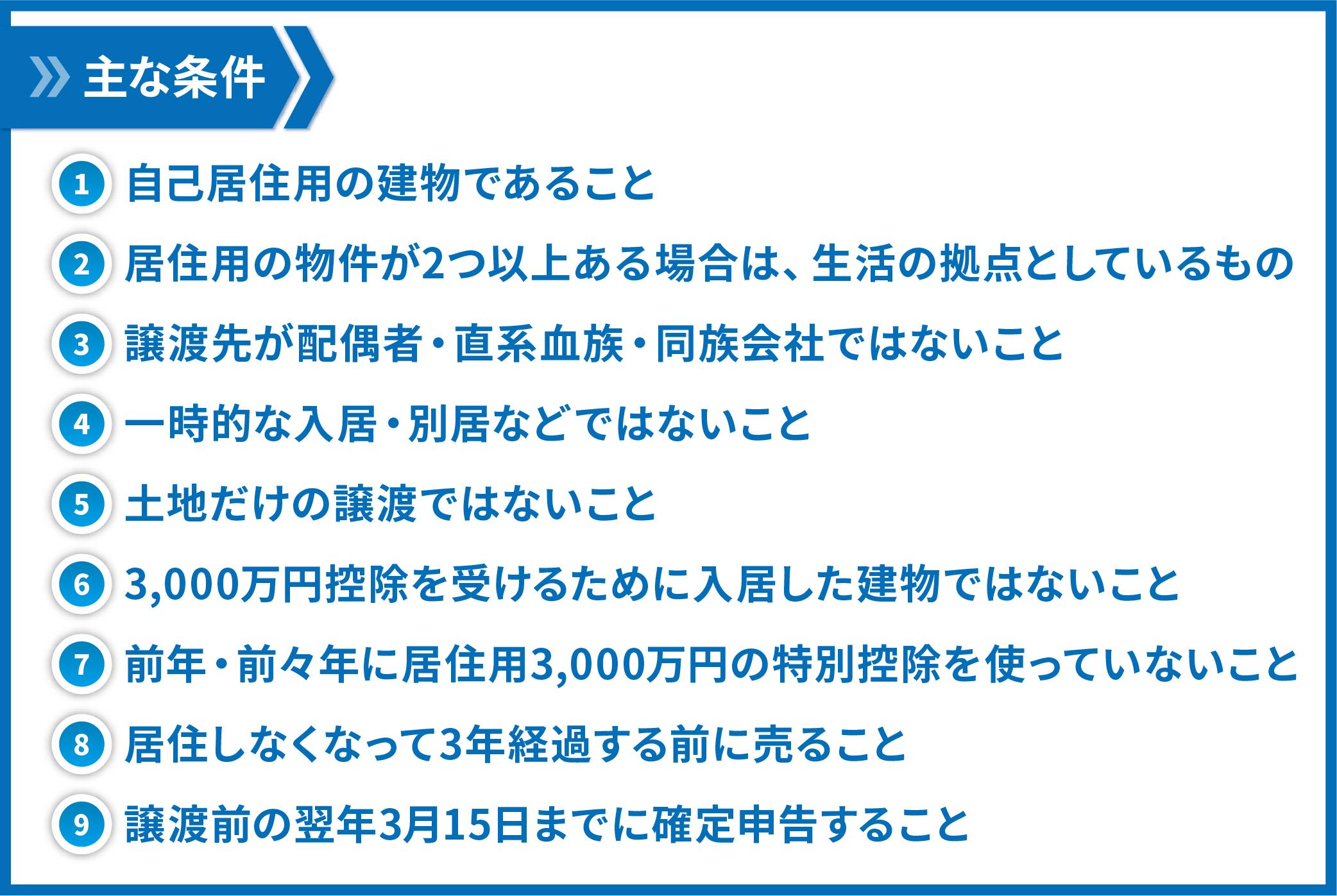 3000万円控除の条件